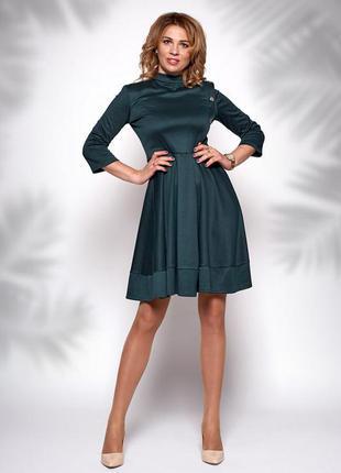 Платье темно-зеленого цвета