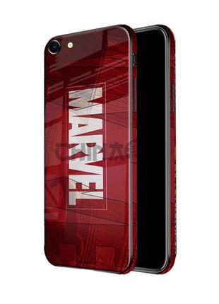 Чехол стеклянный MARVEL для iPhone 7 Plus/8 Plus