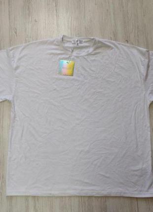 Распродажа до 1 мая🆘 белая удлиненная футболка большой оверсайз