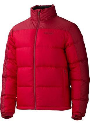 Куртка чоловіча marmot guides down sweater m team red - dark c...