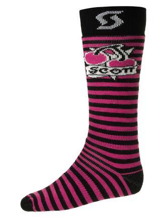 Шкарпетки лижні scott cherries m black pink