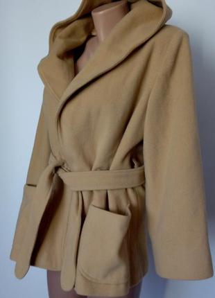Женское коричневое мини пальто 48 50 размер весеннее тренч тре...