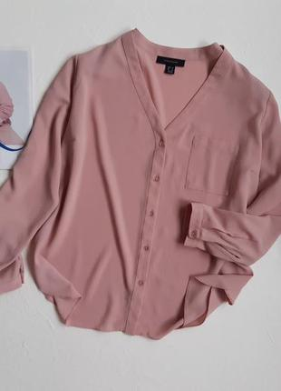 Роскошная пудровая блуза