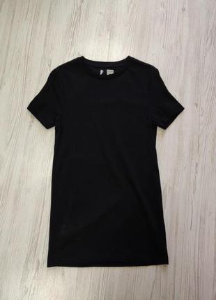 Распродажа до 1 мая🆘 черная базовая удлиненная футболка