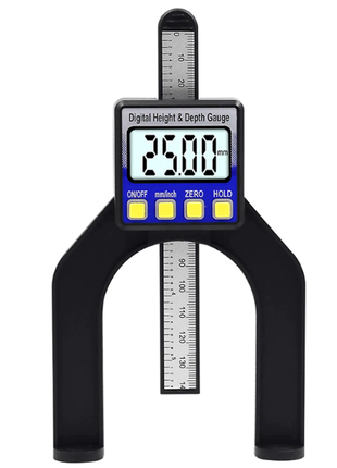 Цифровой измеритель высоты глубиномер штангенциркуль с батарейкой