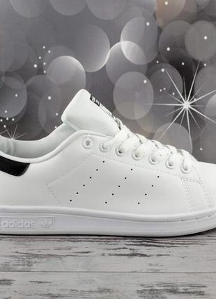 Женские кроссовки adidas stan smith white black