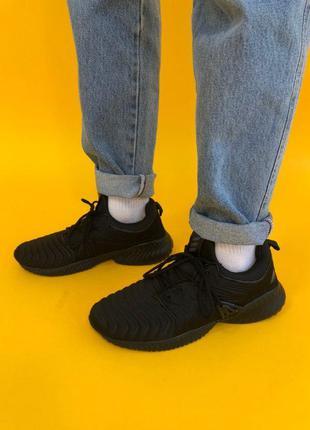 На модерации мужские кроссовки для бега adidas alphabounce черные