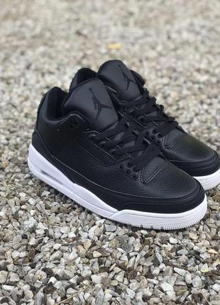 Мужские кроссовки nike air jordan 3 black