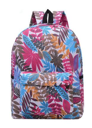 Городской міський молодежный молодіжний рюкзак с листьями