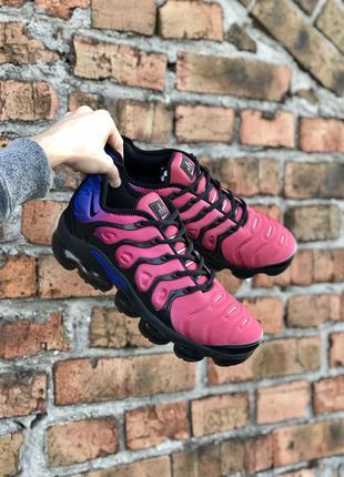 Мужские кроссовки nike vapormax plus синий розовый черный