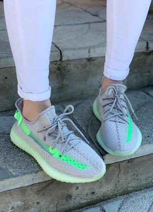 Кроссовки adidas yeezy boost 350 grey/green