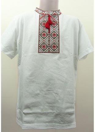 Бавовняна вишита футболка з вишивкою бавовна вышитая хлопковая...