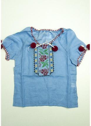 Сорочка блуза вишита на дівчинку вишиванка вышиванка рубашка в...