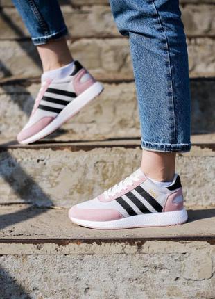 Кроссовки adidas iniki runner pink core black/white