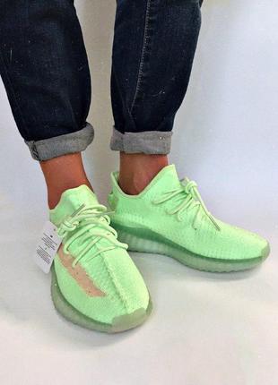 Кроссовки adidas yeezy boost 350v2 glow in dark  флуоресцентна...