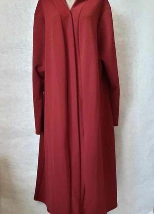 Новый шикарный sophie нарядный кардиган в сочном цвете бордо/м...
