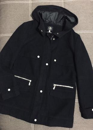 Демисезонное короткое пальто/удлиненная куртка 🌿