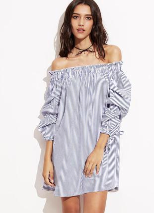 Платье-рубашка на плечи