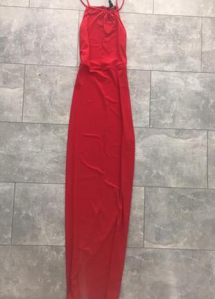 Новое красное платье в пол