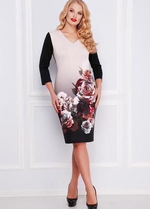 Платье плаття сукня цветочный принт большого размера великого ...
