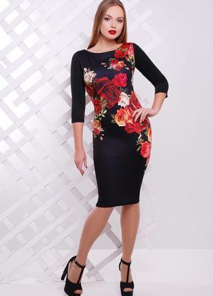 Облегающее трикотажное платье плаття по фигуре миди трикотажна...