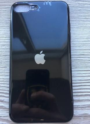 Чехол силиконовый Soft Case для iPhone 7/8 Plus (Черный)