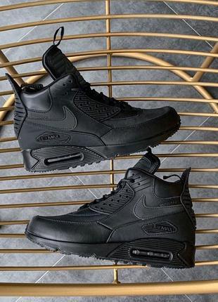 "Кроссовки Nike Air Max 90 Sneakerboot ""Black(Топ качество) 🔥"