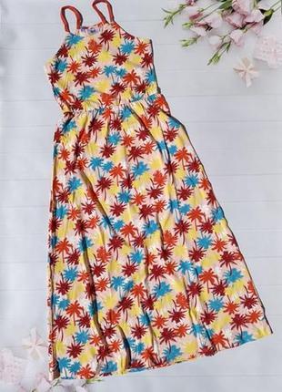 Яркий сарафан платье с пальмами хлопковое натуральное bonprix ...