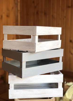 Декоративні ящики в стилі прованс та натуральне дерево