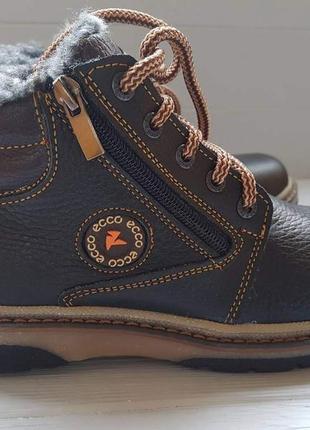 Легкие кожаные зимние сапоги полусапоги ботинки шкіряні зимові...