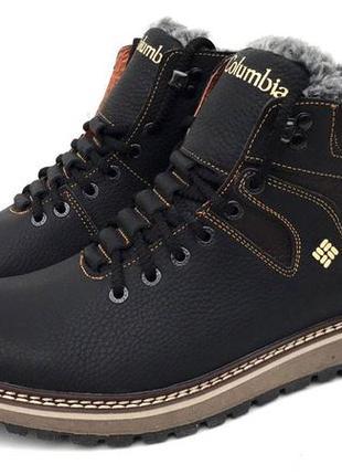 Легкие зимние сапоги ботинки шкіряні зимові чоботи черевики ко...