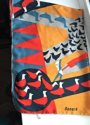 Авангардный шелковый платок, 100% шелк oonark шов роуль шарф