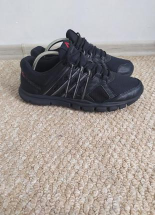 Черные беговые мужские кроссовки 42-43 р рибок