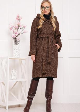 Зимнее зимове пальто утепленное с капюшоном шерстяное норма ба...