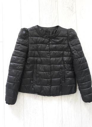 Весенняя стеганная куртка, укороченная