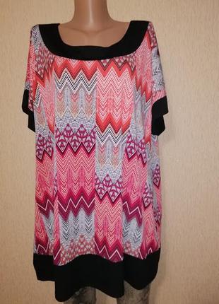 Красивая женская яркая трикотажная футболка, блузка 22 р. bm c...