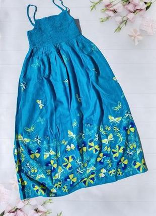 Сарафан платье с бабочками натуральное bonprix bpc collection ...
