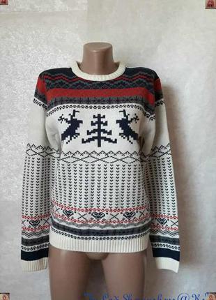 """Новый красочный новогодний свитер с принтом """"орнамент.олени.ёл..."""