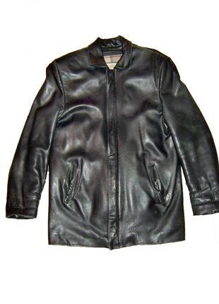 Мужская кожаная куртка пиджак vallentino