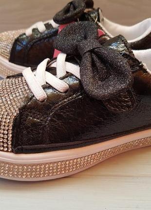 Мега крутые кроссовки кеды со стразами для принцессы р.26-30 о...