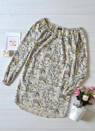Красива котонова блуза в квіти f&f