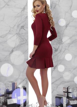 Кокетливое обтягивающее приталенное платье сукня плаття со скл...