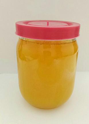 Мед 750гр.  Цветочный натуральный ,с домашней пасеки.