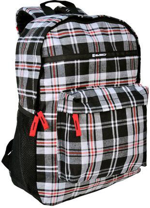Рюкзак в клетку Paso 14-016B серый 18 л