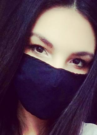 Двухслойные защитные маски для детей и взрослых 👍