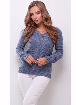 Теплый легкий вязаный свитер джемпер кофта полушерсть цвета от...