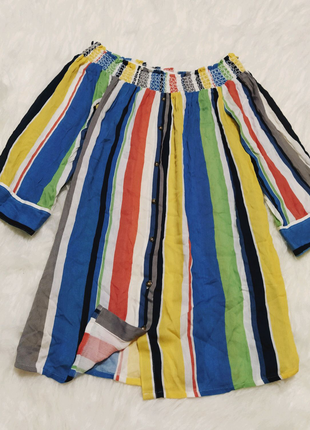 Шикарная натуральная блуза next. туника, рубашка, кофта