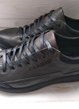 Мужские кожаные туфли высшего сорта чоловічі шкіряні туфлі р.4...