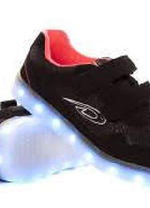 Мигающие кроссовки-мигалки кроссы led подсветка usb подзарядка...