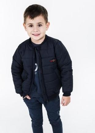 Крутой бомбер стеганная весенняя куртка на синтепоне для мальч...